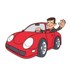 Businessman driving car 3 vector