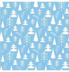 Seamless christmas pattern with trees vector