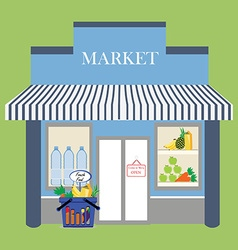 Grocery store facade vector image