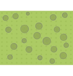 Pattern with dots and circle vector