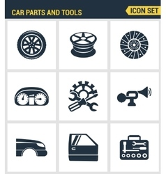 Icons set premium quality of car parts tools icon vector image