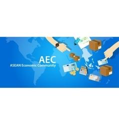 Aec asean economic community association of vector