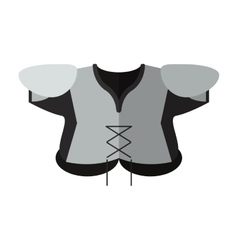american football body protection element vector image