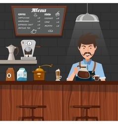 Barista at work design vector