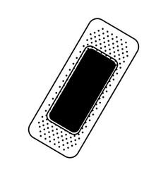 Black icon bandage plaster cartoon vector