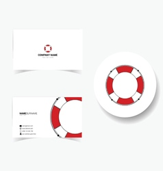 Business card with live saver vector