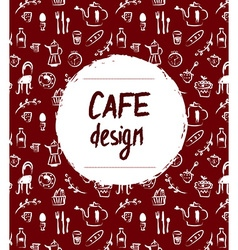 Cafe menu design in retro sketch style vector image