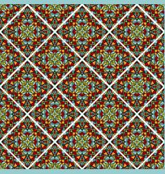 Decorative colorful mosaic tile seamless vector