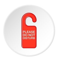 Do not disturb red sign icon cartoon style vector