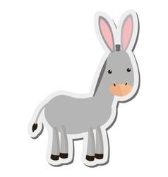 Donkey cartoon icon vector