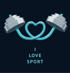 I Love Sport vector image vector image