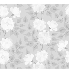 Light abstract seamless flower background vector image
