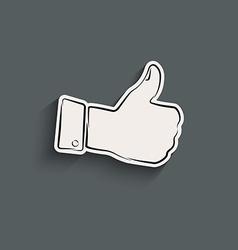 Like icon vector