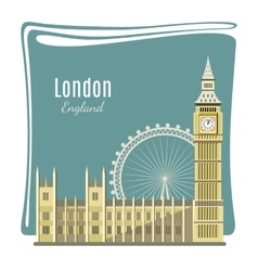 London landmarks detailed vector