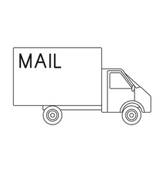 mail machinemail and postman single icon in vector image vector image