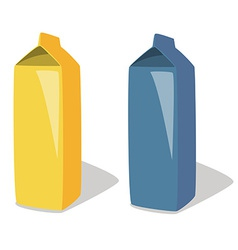 Milk package vector