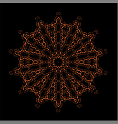 Oriental geometric ornament vector