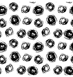 Pattern with brushed circles vector