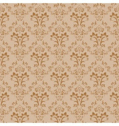 retro damask pattern vector image vector image