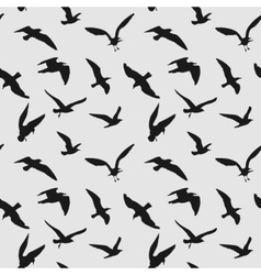 seamless pattern with flying birds vector image vector image
