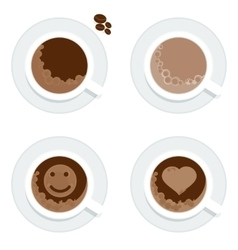 set cup of coffe vector image
