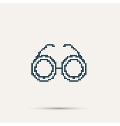 Simple stylish glasses pixel icon design vector image