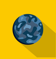 Small planet icon flat style vector