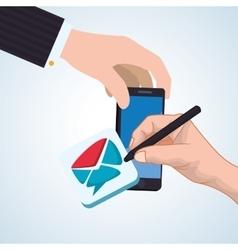 smartphone design app concept colorful vector image