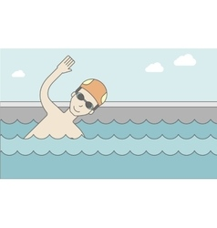 Swimmer in the pool vector image