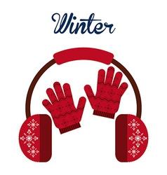 winter clothes design vector image