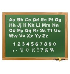 Wood school desk vector image vector image