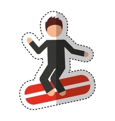 Surf boarding extreme sport vector