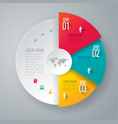 Infographics design with 3 step vector
