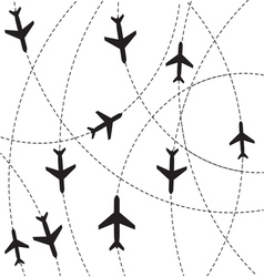 Airplane destination routes vector