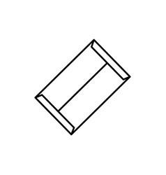 file envelope icon vector image
