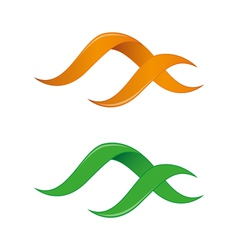 Infinity logo templates vector