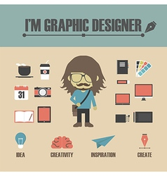 128graphic designer vector