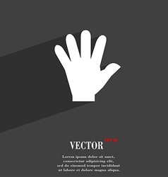 Hand symbol flat modern web design with long vector