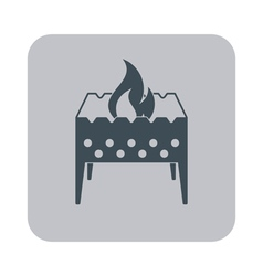 Brazier icon on gray background vector