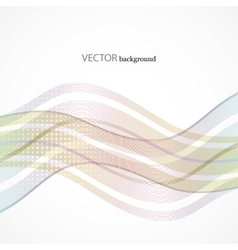 Abstract wave line with space of your text vector