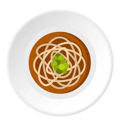 Asian noodles icon circle vector