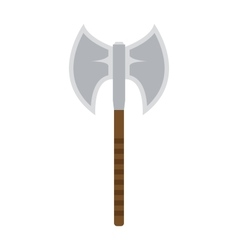 Axe steel weapon isolated icon vector image