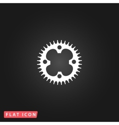 bicycle sprocket flat icon vector image
