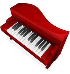big red piano vector image