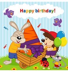 birthday rabbit vector image