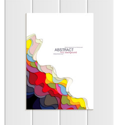 Brochure a5 or a4 format abstract uneven vector