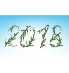 Christmas tree 2018 vector