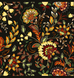colorful seamless with eastern patterns on dark vector image vector image