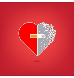 Consept of stop smoking vector image