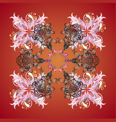 Cute abstract snowflake design on colorful vector